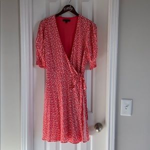 Banana Republic Red Floral Dress